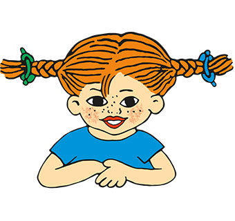 Illustration von Pippi Langstrumpf
