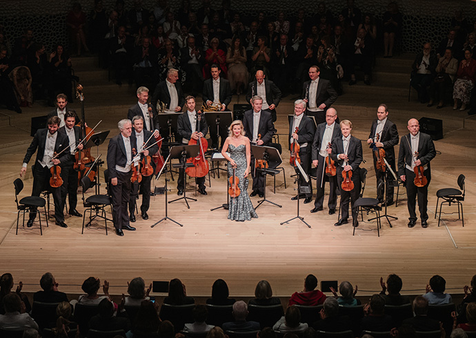 Anne-Sophie Mutter bei ihrem Benefizkonzert für Kinder im Jemen am 18. Mai 2019. © Save the Children / Daniel Dittus