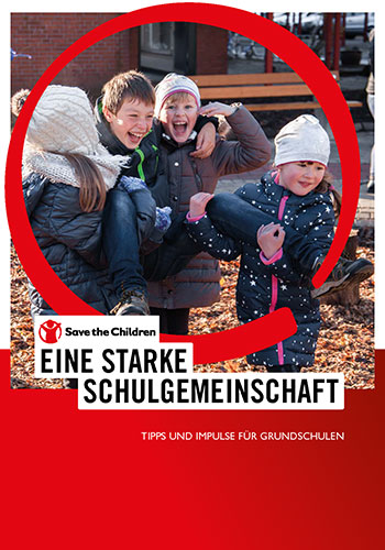 Cover- lachende Kinder im Herbst